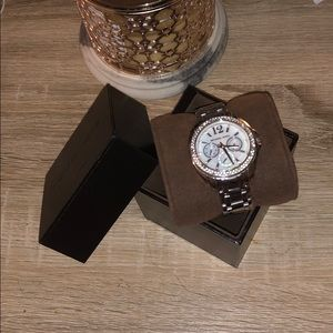 Michael Kors Cameron Glitzed Mother of Pearl Watch